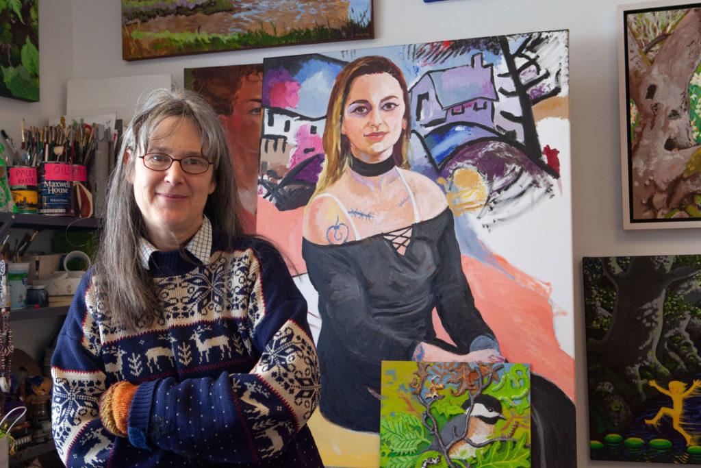 Rockland artist Susan Beebe in her studio