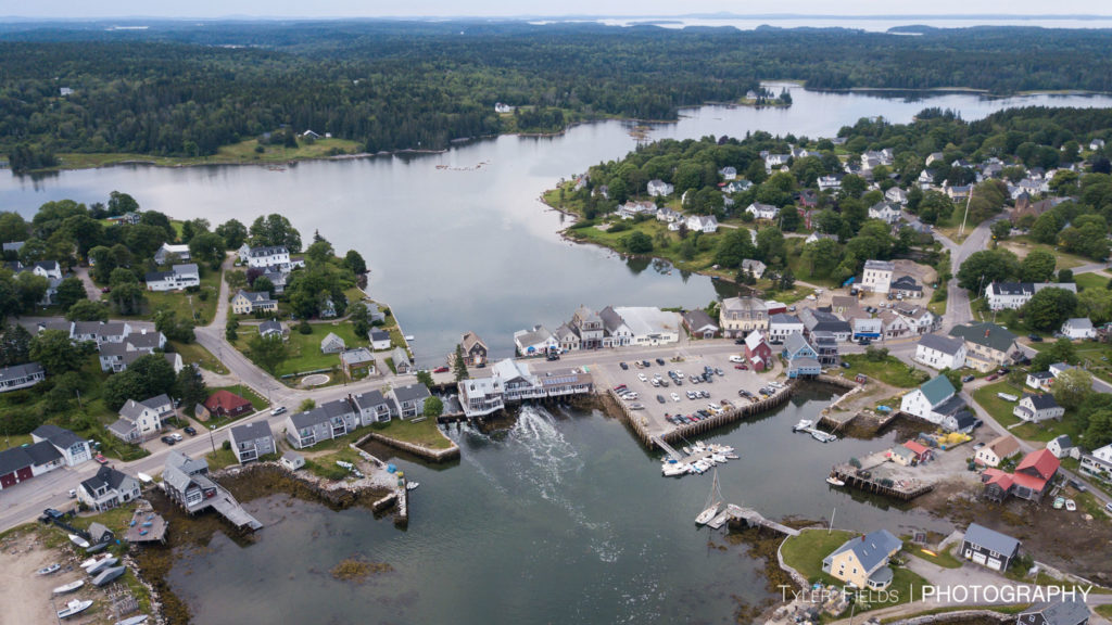 An aerial photo of downtown Vinalhaven (Courtesy of Rob Miller)