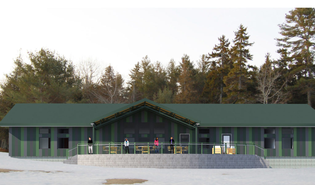 An artist's rendering of the new facility planned for Great Wass Island.