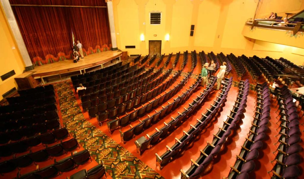 Renovations included refurbished seats and curtains