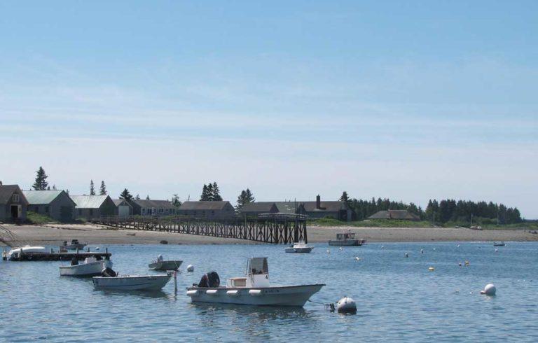 Boathouses on Islesford.