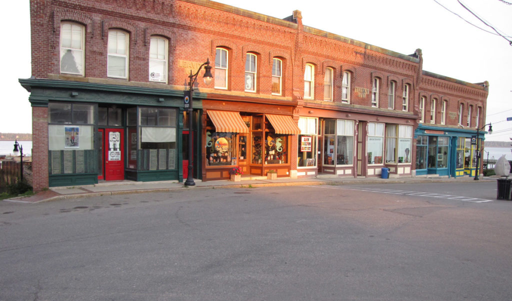 Eastport's business district.