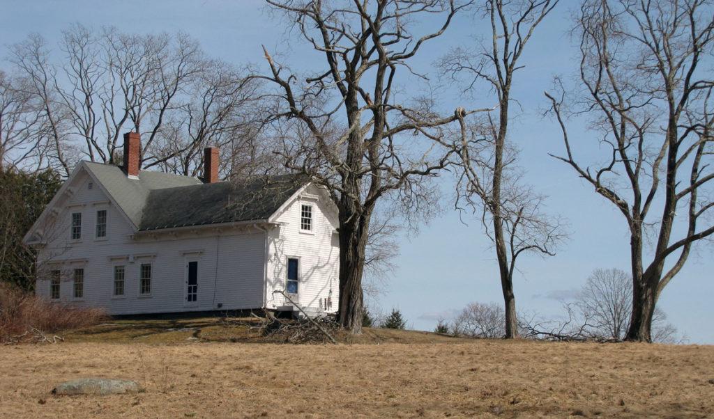 House on a hill on Islesboro.