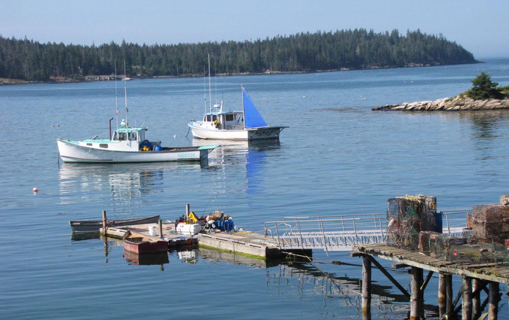 Swan's Island summer scene.