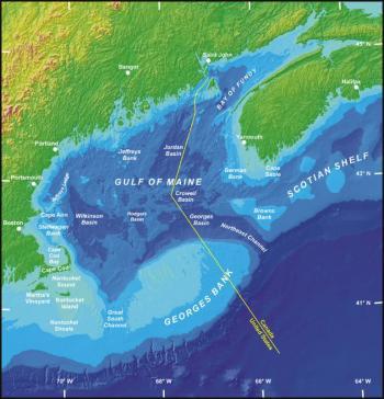 Base map courtesy of United States Geological Survey/Geological Survey of Canada/Woods Hole Field Center