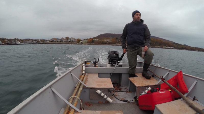 "Island Institute Marine Programs Director Nick Battista appears in a scene from ""Ocean Frontiers III"""
