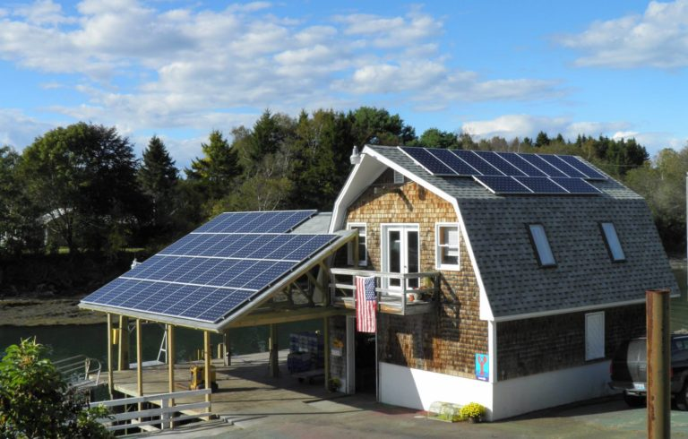 Potts Harbor Lobster gets 44% of their electricity from solar power