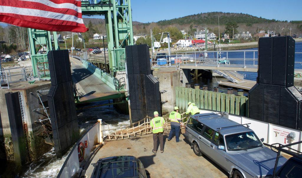 The ferry departs Lincolnville for Islesboro.